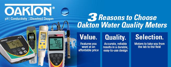 Oakton Instruments for Water Quality Testing